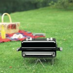 Weber 121020 Go-Anywhere Charcoal Grill : Compact Grill with Spacious Area for Grilling