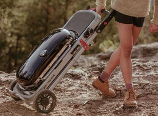 Weber Traveler Portable Gas Grill Folds Easily and Can Be Carried Anywhere
