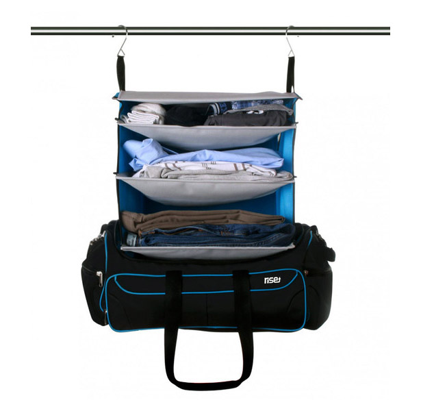 Weekeder Bag Comes with Portable Shelving System Inside