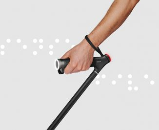 Werteloberfell Sense Five Smart White Cane Uses Surface Changing Structure to Send Information to User