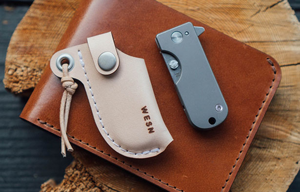 WESN Titanium Micro Blade EDC Pocket Knife Keychain by Billy Chester