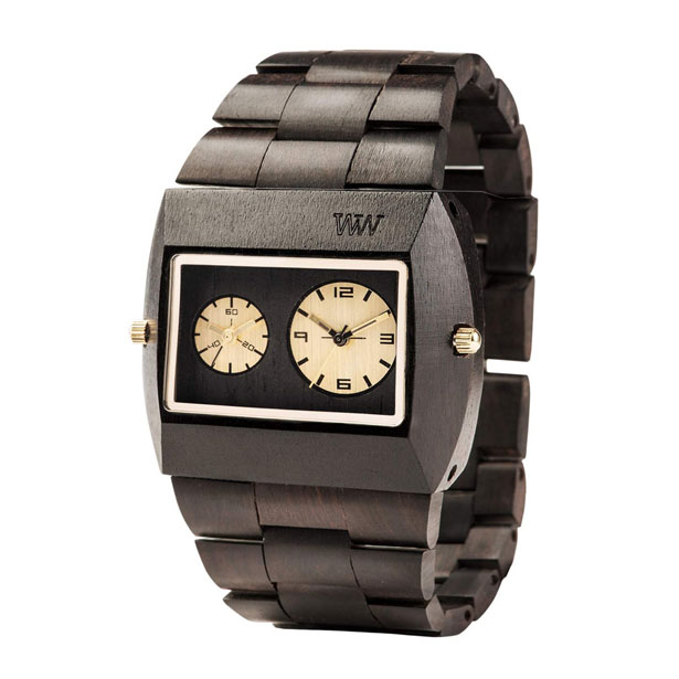 Stylish WeWood Jupiter Black Gold TL Wooden Watch