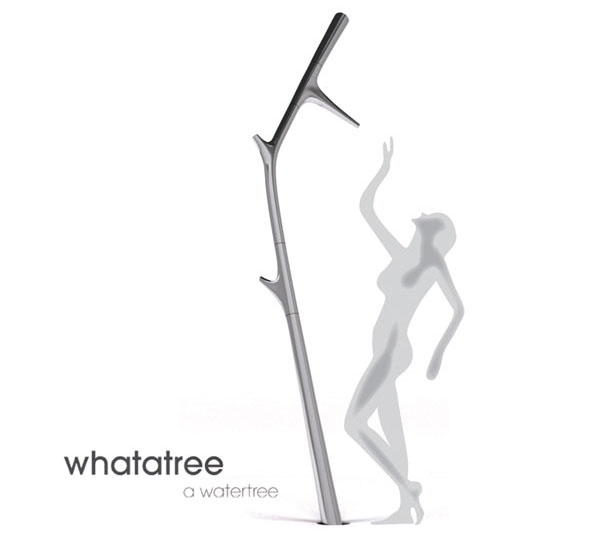 Whatatree Adjustable Tree Shaped Shower by Hansel Schloupt and Pol Trias Coca