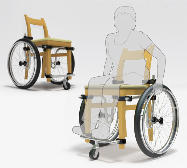 Wheel+Chair : A Wheelchair Without Chair For Easy Transportation and Distribution