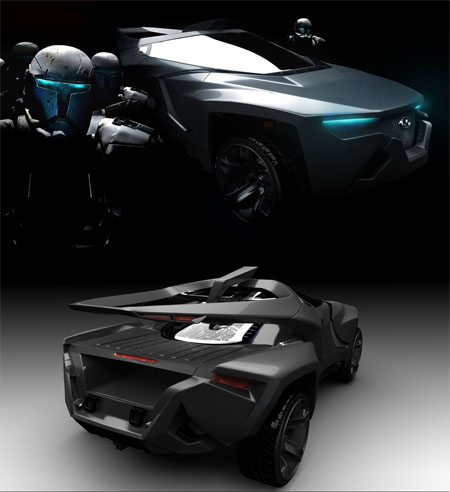 Wild Wave Futuristic Car