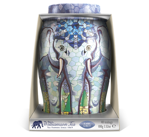 Williamson Tea Elephant Caddies Packaging by Springetts Brand Design Consultants