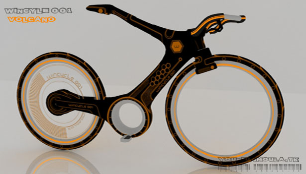 Wincycle001 Futuristic Bike by Younes Jmoula