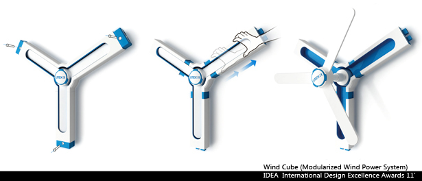 Wind Cube Modularized Wind Power System by Liao-Hsun Chen
