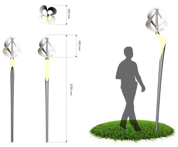 Windtulip Street Light by Mebrure Oral