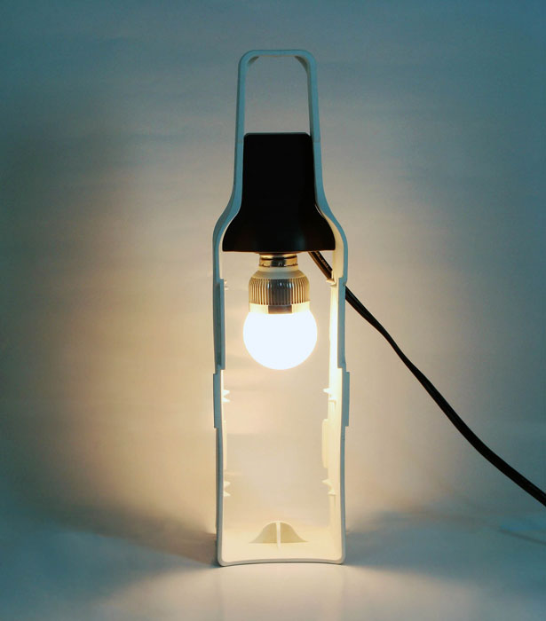 Re-Wine - Wine Bottle Lamp by Miniwiz