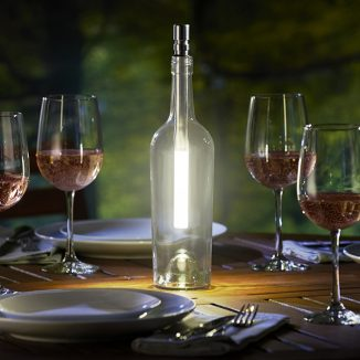 The Wine Bottle Light Transforms Any Empty Wine Glass Bottle into a Beautiful Light