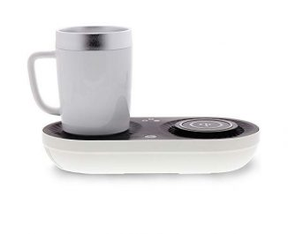 Wireless Qi Fast Charger and Mug Warmer/Cooler in One Compact Device