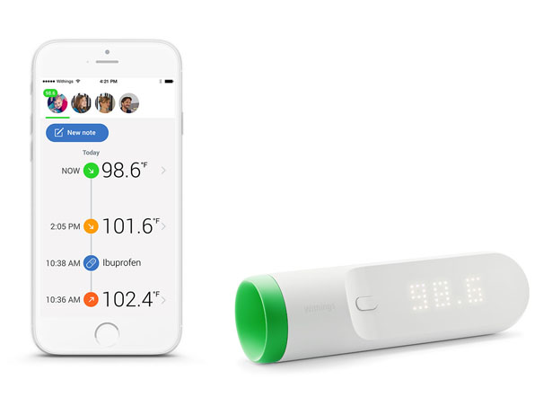 Withings Thermo - Smart Thermometer with 16 Infrared Sensors