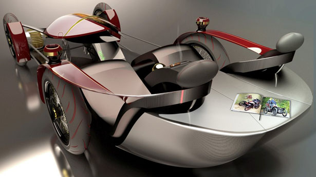 Futuristic Wolseley Voyager Concept Car Was Inspired 1899 Wolseley Voiturette