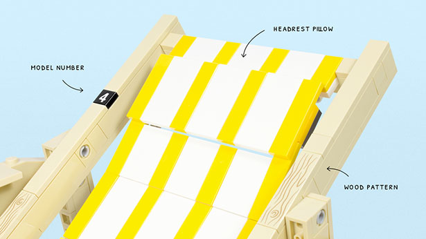 Wooden Deckchair Concept for LEGO by Pedro Sequeira