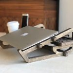 A Wooden Laptop Stand with Organizer - a Nice Little Work Station