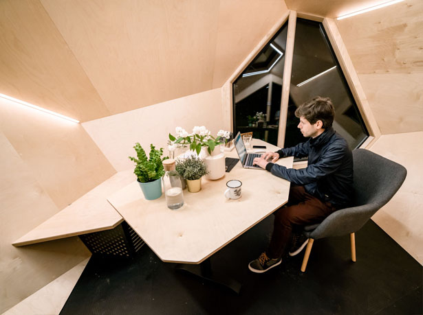 Workstation Cabin by Hello Wood Studio