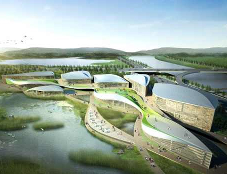 world class visitors center at suncheo wetland