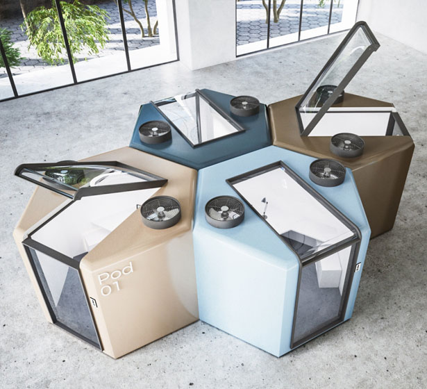 Q.workntine Pod System for Office During Covid19 Pandemic by Mohamed Radwan