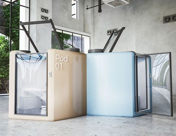 Qworkntine Pod System for Office During Covid19 Pandemic by Mohamed Radwan