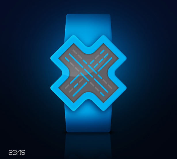 X-Shaped LCD Watch Features Fresh and Youthful Design
