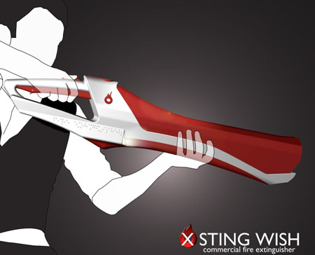 X Sting Wish Fire Extinguisher with Sci-Fi Style by Adam Scott