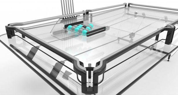 X1 Everest : Transparent Modern Pool Table by Elite Innovations