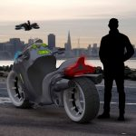 Futuristic XBIKE 2043 Jetbike - From Electric Motorbike to Passenger Drone in An Instant