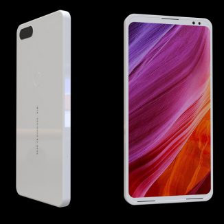 INFLUX Concept Cell Phone Proposal for Xiaomi Mi Mix Next Generation