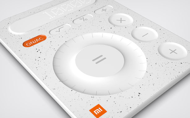 Xiaomi MI08 Calculator Design by Marco Schembri