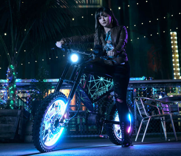 XION CyberX Custom eBike with 100-mile Range and Top Speed at 50-mph