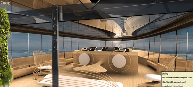 Cronos Yacht Design Concept by Simone Madella and Lorenzo Berselli
