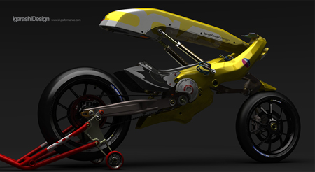 yellow motorcycle from igarashi design