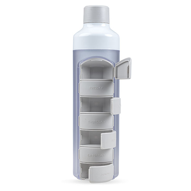 YOS Bottle with Pill Holder