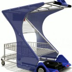 Z-Cart Is A Shopping Cart With A Bit Of A Boost That Can Not Only Carry What You Shop, It Can Carry You Too