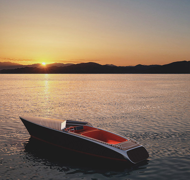 Luxury Zebra Electric Boat Combines Classic Style with Modern Technologies