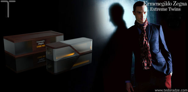 Zegna Extreme Twins Packaging Concept by Giorgi Tedoradze
