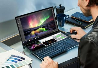 ZenBook Pro Duo Laptop Features ScreenPad Plus as Second Display