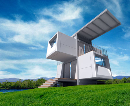 Zero House : Small Prefabricated House Operates Independently Off-The Grid