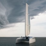 Zero Sail Concept Sailing Catamaran Features Modern Racing Catamaran Design