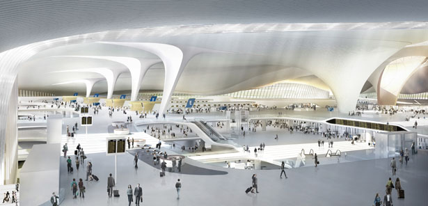 Beijing New Airport by Zaha Hadid Architects and ADP Ingeniérie