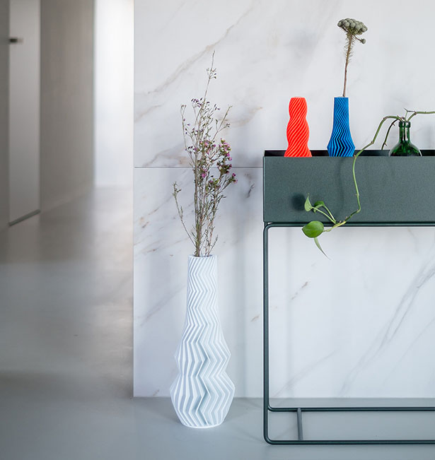 ZigZag 3D-Printed Vases by Martin Žampach