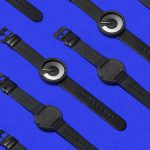 Minimalist ZIIIRO Horizon Watch Users Gradient Silhouette and Lines to Display Time
