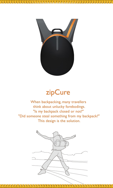 Zip Cure Design for Your Backpack