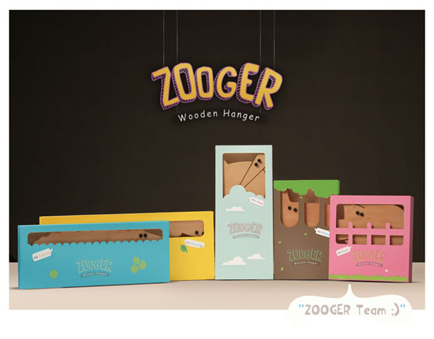 ZOOGER Wooden Hanger by Cheesign