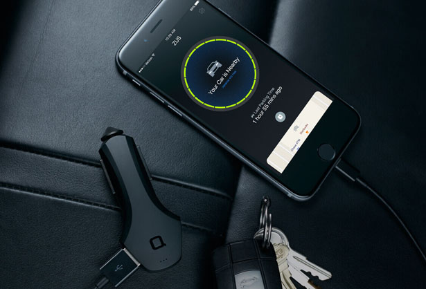 Zus : Smart Car Finder and USB Car Charger by Nonda